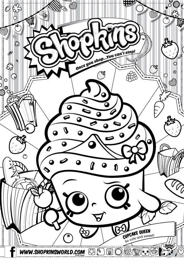 Shopkins Coloring Pages Season 1 Cupcake Queen Shopkins Colouring Pages Shopkins Colouring Book Shopkin Coloring Pages