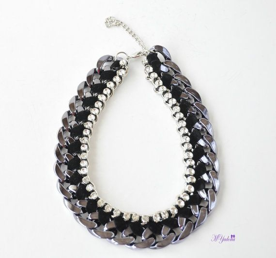 Chunky Chain Necklace  Statement Necklace  Charm by MYadoria, $25.50