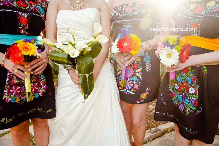 #Cricut  Gorgeous colors and a great idea for a southwestern inspired wedding. Love the dresses.