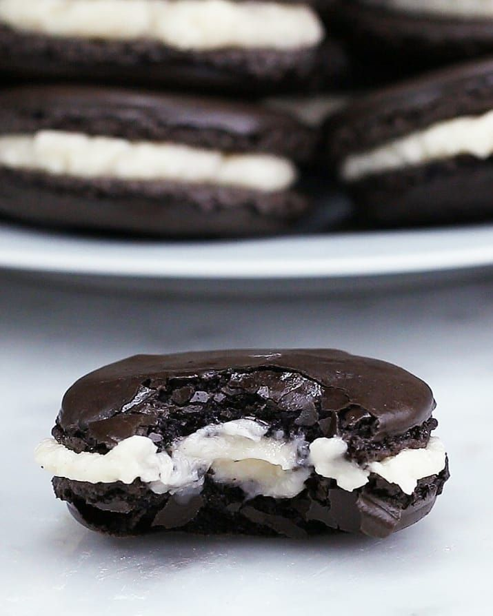 These Oreo Macarons Are Gonna Blow Your Mind, replace the almond flour with regular