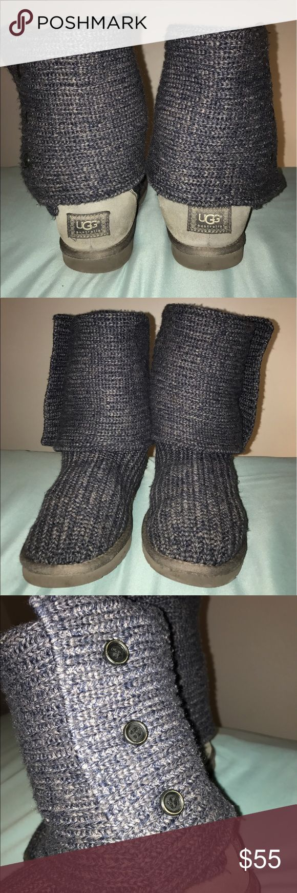 Classic Cardy Uggs (Dark Gray) Out of season sale! Gently used. Dark grey, Classic Cardy Knit UGGs, color is very rare, no longer for sale on UGG website! Will accept offers. UGG Shoes Winter & Rain Boots