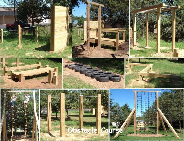 backyard obstacle course backyard gym backyard projects backyard ideas