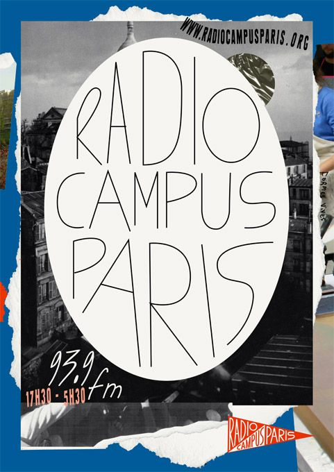 Formes Vives, affiche pour Radio Campus Paris, A2, offset quadri, impression Onlineprinters, octobre 2014