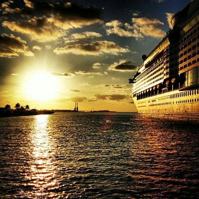 Explorer Of The Seas At Sunset Caribbean Travel