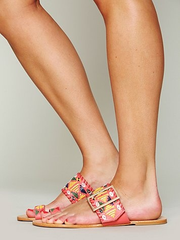 Adorable style and such fun colors! Free People Mayan Sandal #freepeople #sandals