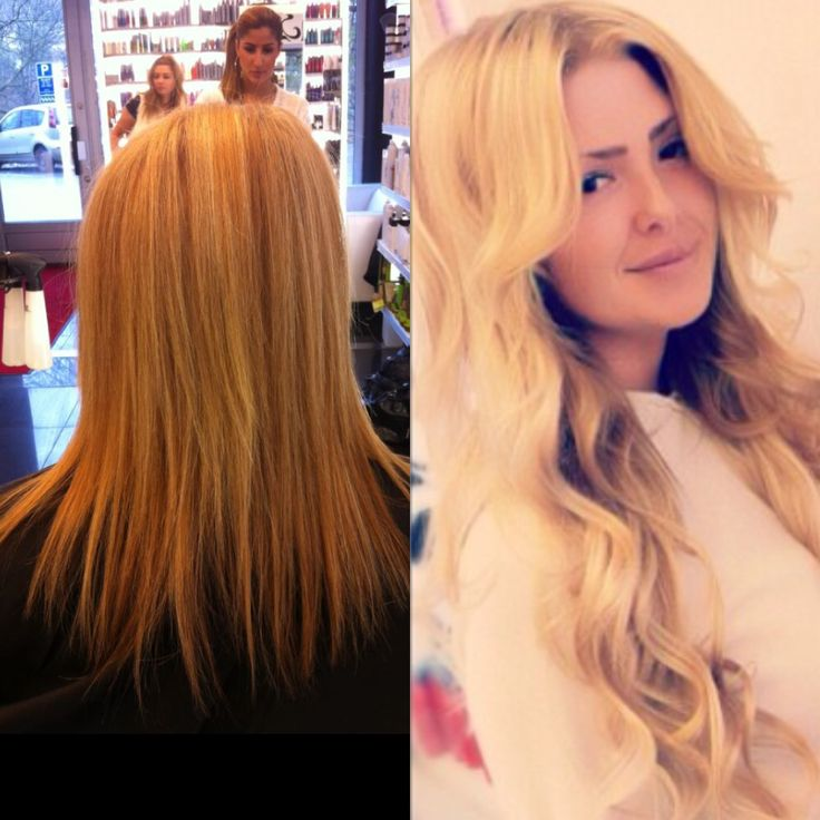Before & after with the lovely babe Angelica. New haircolor and new Poze Clip & Go set makes a real difference!  Learn more about our hair extensions on www.pozehair.se