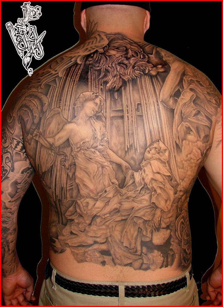 Big gus tattoos pinterest for Angel back tattoo