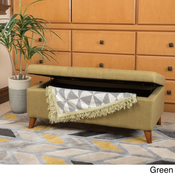 Harper Mid Century Storage Ottoman Bench by Christopher Knight Home   Overstock.com Shopping - The Best Deals on Ottomans