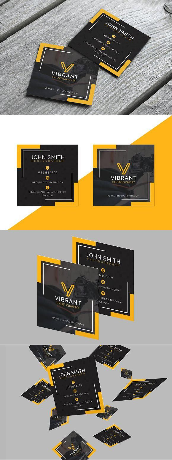 Square Photography Business Card Photography Business Cards Business Card Design Photography Business Cards Creative