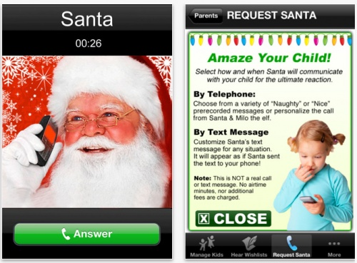 Phone Call From Santa App!