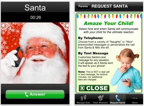 Phone Call From Santa App!