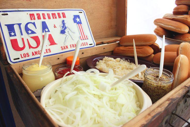 Un anniversaire sur le thème américain : les hot-dog