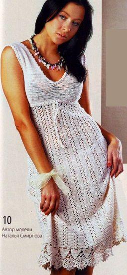 Платье сарафан крючком