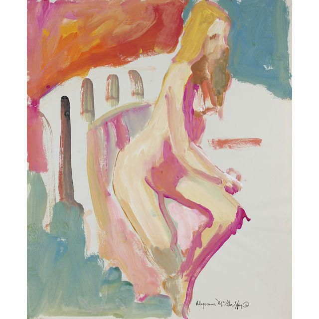 Image of Bay Area Figurative Distemper Painting