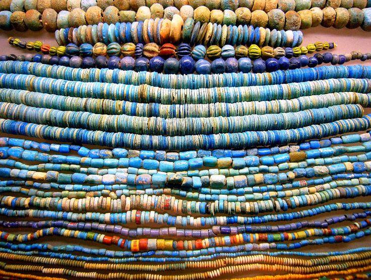 Ancient Egyptian faience (ceramic) beads
