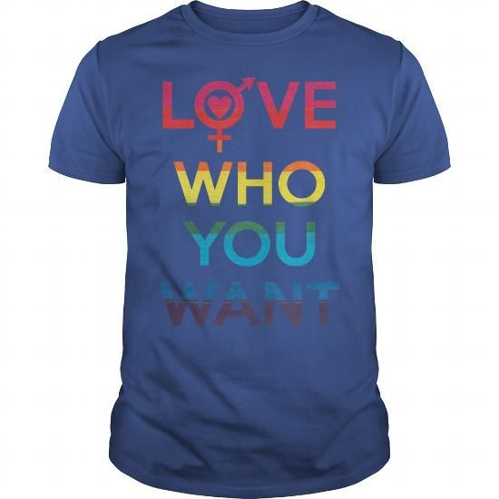 Cool Love Who You Want LGBT Pride T-Shirt Shirts & Tees