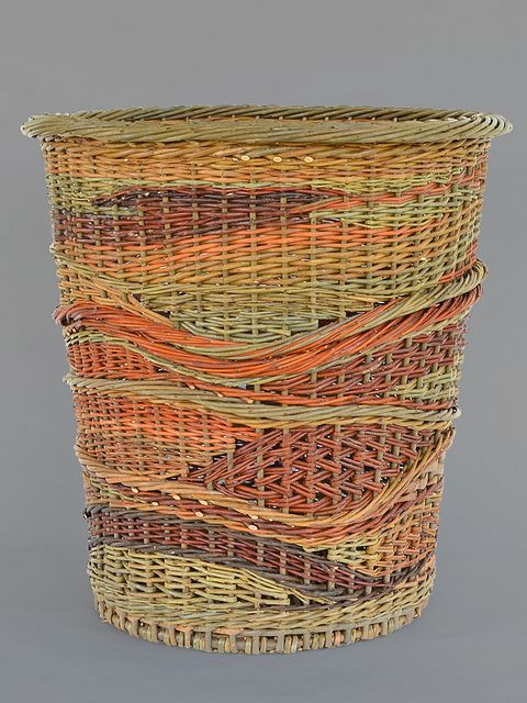 """crazy quilt"" - willow basket by Katherine Lewis"