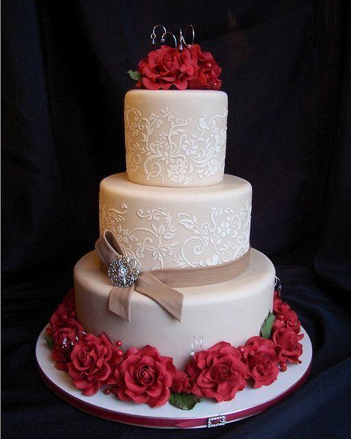 Красно белые свадебные торты - фото 5237639 Арт-кондитер Наталья Татаринова