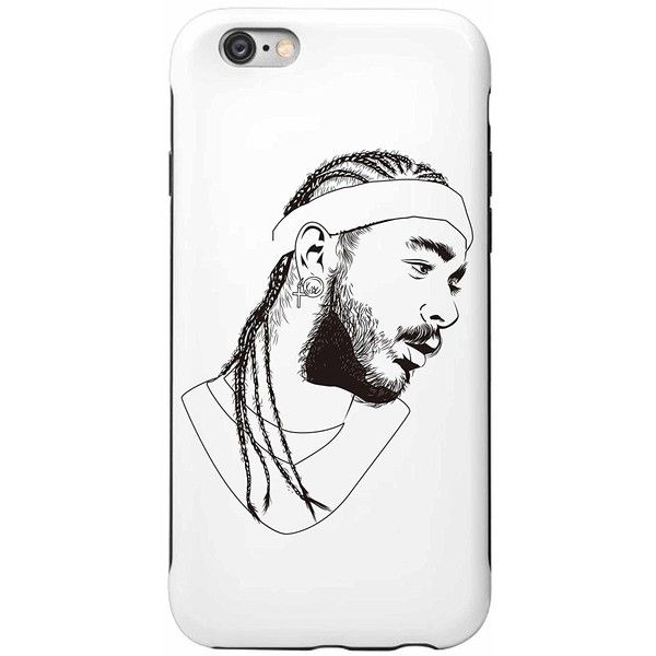 Post Malone White Iverson Stoney Apple IPhone 5 5s 6 6s Plus phone... ($1.68) ❤ liked on Polyvore featuring accessories and tech accessories