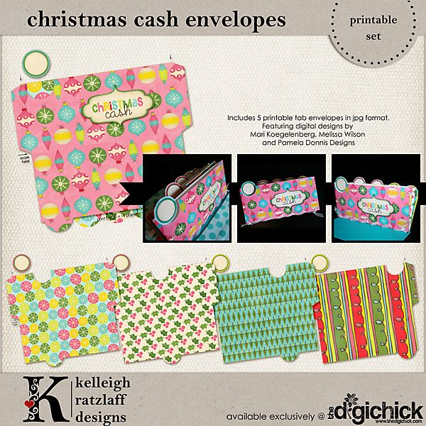 12 Days Blog Hop: Christmas Cash Envelope | Kelleigh Ratzlaff Designs