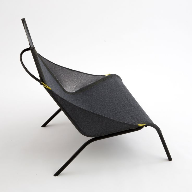 Benjamin Hubert's Tent chair for Moroso is made from a single piece of knitted nylon