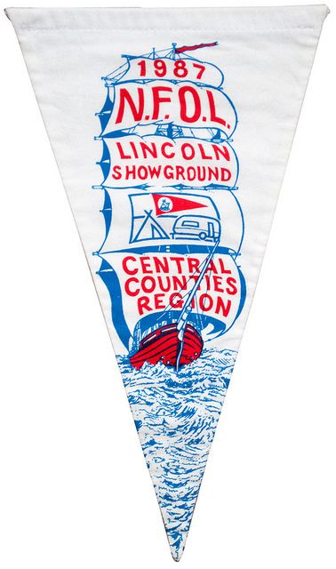 camping club pennant, lincoln showground 1987 by maraid, via Flickr