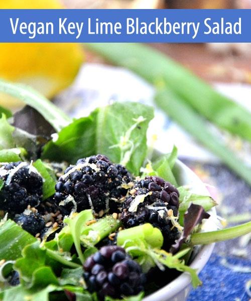 http://blog.vitacost.com/: Lemon Salad, Salad Recipes, Limes Blackberries, Vegans Keys, Keys Limes, Blackberries Lemon, Vegans Recipes, Lemon Dresses, Blackberries Salad