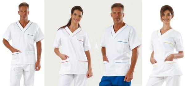 http://www.italiantrendy.it/images/CASACCA MEDICA V UOMO DONNA BIANCA CON PROFILI  BLU MS1401_6.jpg
