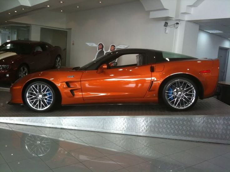 Atomic Orange Corvette ZR1.