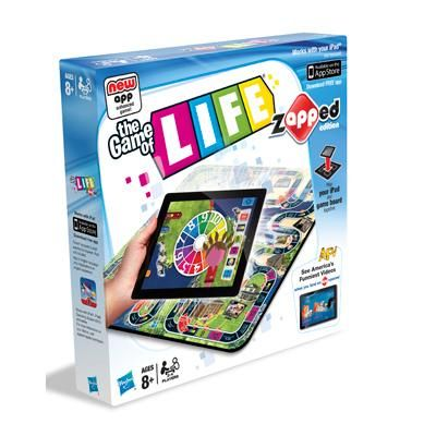The Game of Life: Zapped Edition - Add your iPad to the unique game board for a truly interactive experience.
