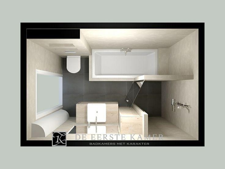 (De Eerste Kamer) Met Beton Ciré op de wanden oogt deze complete badkamer strak maar tegelijkertijd bijzonder sfeervol. Meer foto's van onze badkamers vindt u op www.eerstekamerbadkamers.nl