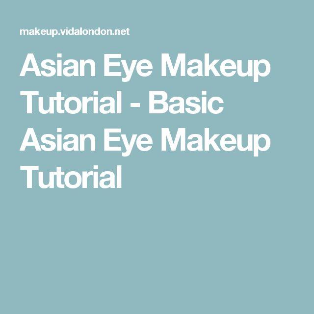 Asian Eye Makeup Tutorial - Basic Asian Eye Makeup Tutorial