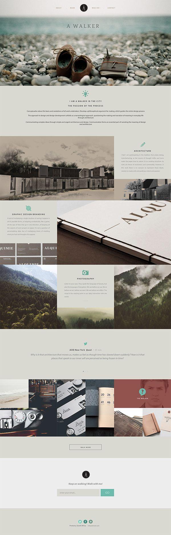 A Walker - Architecture & Design Portfolio Brand by Justin Coetzee, via Behance
