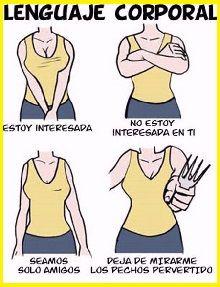 Resultado de imagen para lenguaje corporal femenino