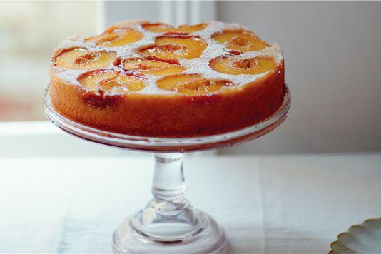 John Torode's peach upside-down cake recipe