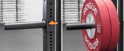 Add on power rack plate storage (single) by Rogue Fitness.
