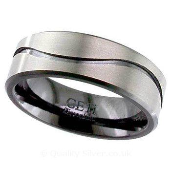 Geti Flat Waved Zirconium Ring