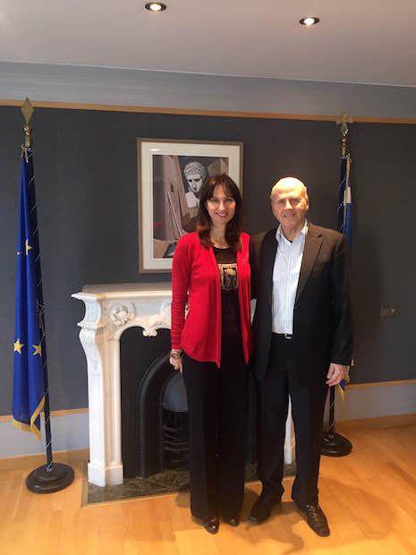 Η Αν. Υπουργός Οικονομίας, Ανάπτυξης και Τουρισμού, κυρία Έλενα Κουντουρά συναντήθηκε σήμερα στο Υπουργείο με τον Γενικό Γραμματέα Αιγαίου και Νησιωτικής Πολιτικής κ. Ιωάννη Γιαννέλη με αντικείμε…