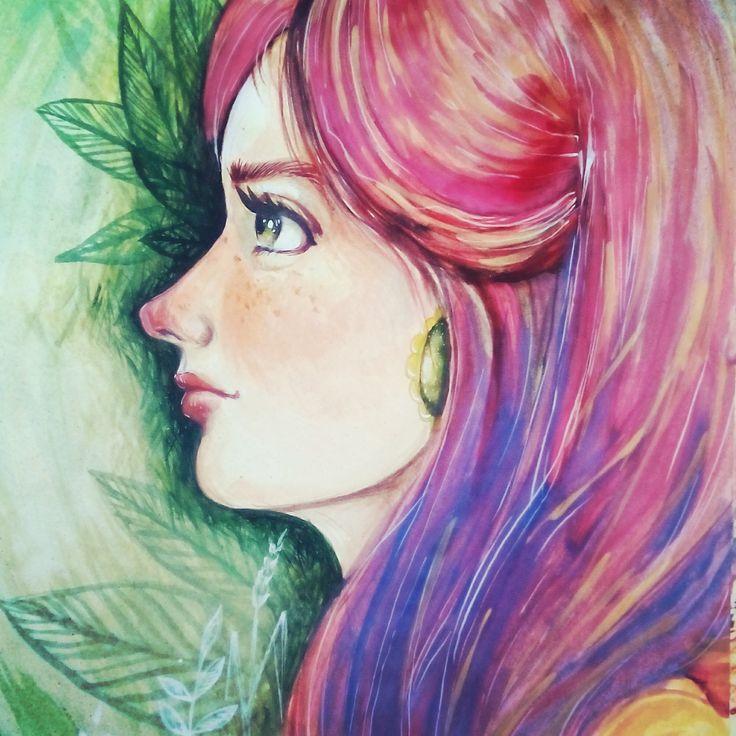 Girl portrait illustration https://www.facebook.com/marra.art