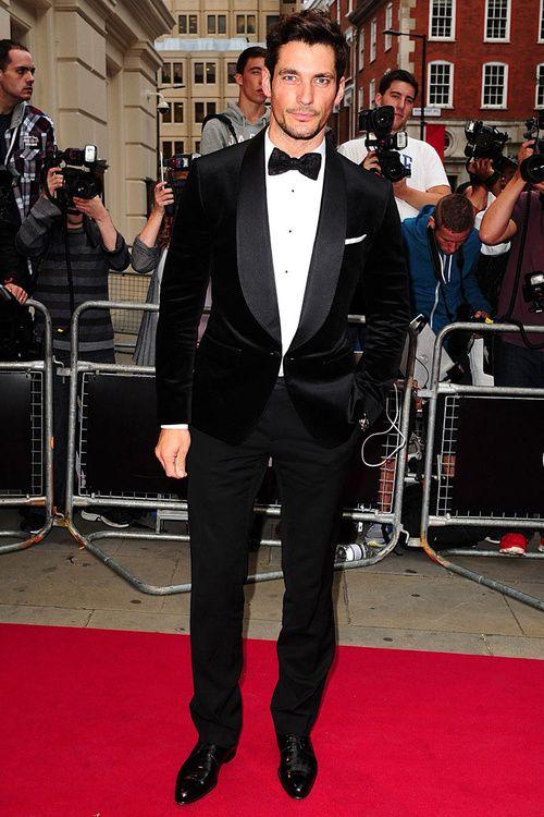 David Gandy in a Dolce & Gabbana black velvet tuxedo #suits