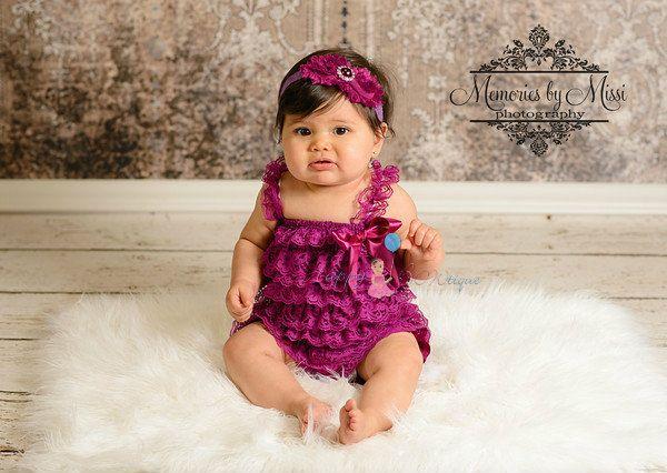 baby+headband++Duo+Shabby+Plum+Lace+headband+Plum+by+HappyBOWtique,+$10.99