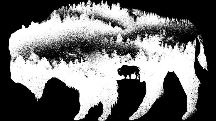 American Bison is a T Shirt designed by barmalizer to illustrate your life and…