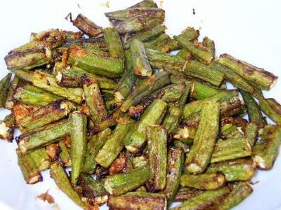 Spicy Oven Baked Okra