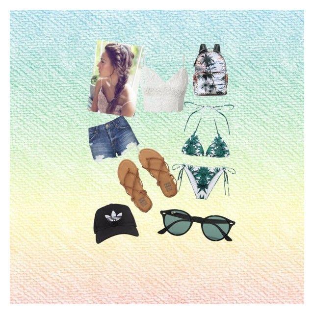 """Summer"" by fashion-girl-katrina on Polyvore featuring Mara Hoffman, Billabong, Topshop, Valentino, Ray-Ban, adidas, women's clothing, women, female and woman"