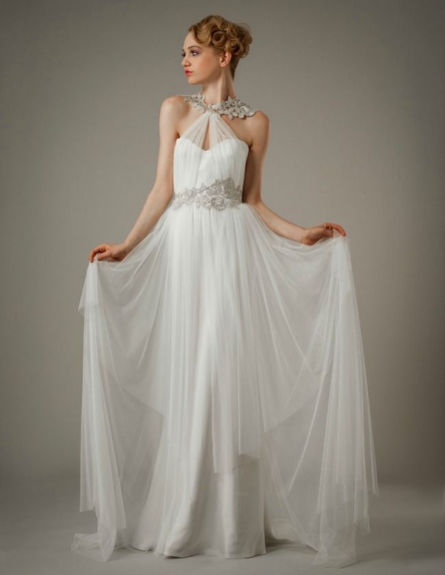 grecian style wedding dresses | Swoon-Worthy Grecian Wedding Gowns