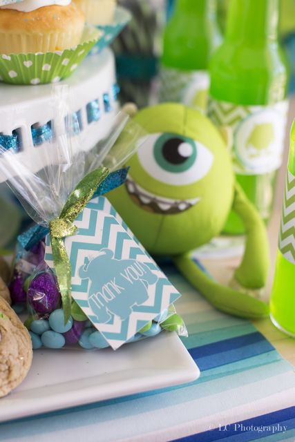 """Photo 2 of 10: Monster's Inc. Baby Shower / Baby Shower/Sip & See """"We scare because we care and we party because we can!"""" 