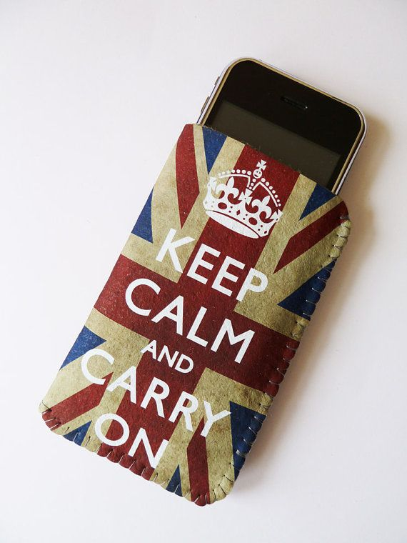 iPhone Case Grunge Union Jack Keep Calm And Carry On - Fits iPod Touch Smartphones and Cell Phones