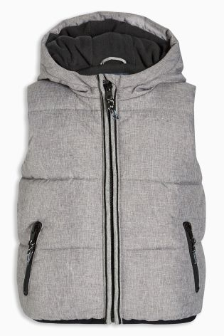 Buy Grey Hooded Gilet (3mths-6yrs) from Next Australia