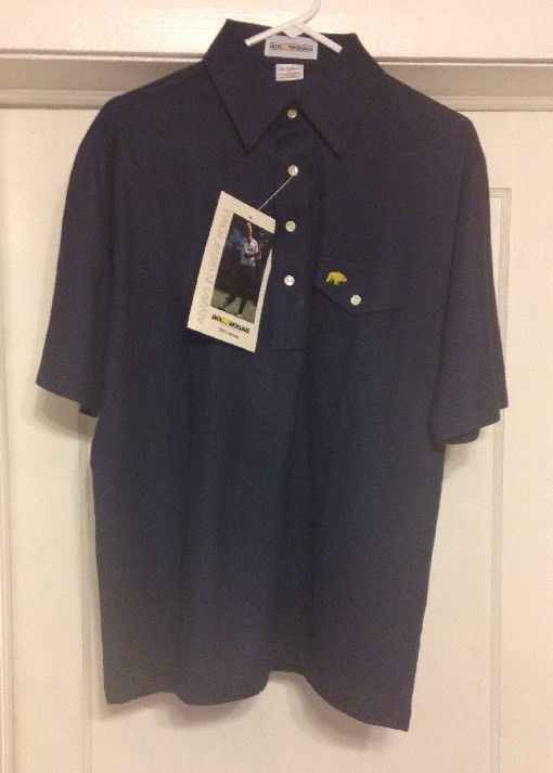 Vintage Jack Nicklaus Polo Golf Shirt With Golden Bear Men's Large New With Tags #JackNicklaus #PoloRugby