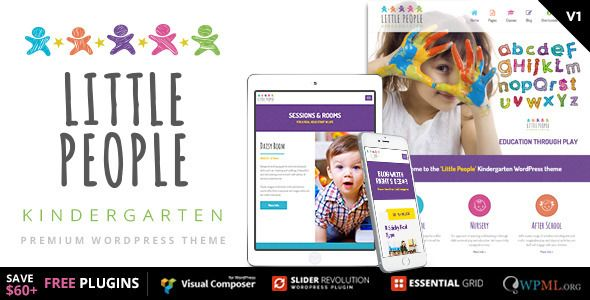 wpthemeclub: Little People, Kindergarten wordpress theme